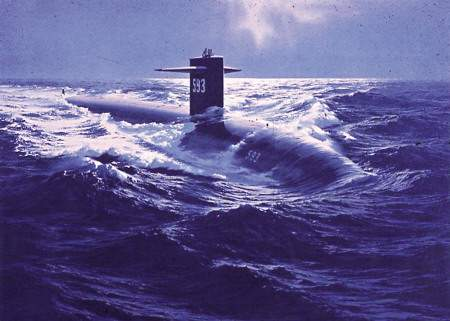 This portait of USS Thresher by RDML. Tom Eccles was released in April 2008, as part of the 45th anniversary of the submarine disaster.