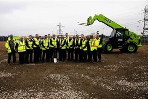 Vice Admiral Sir Andrew Mathews leads the ground-breaking ceremony at the site of the new Rolls-Royce factory that will build reactors for the UK sub fleet.